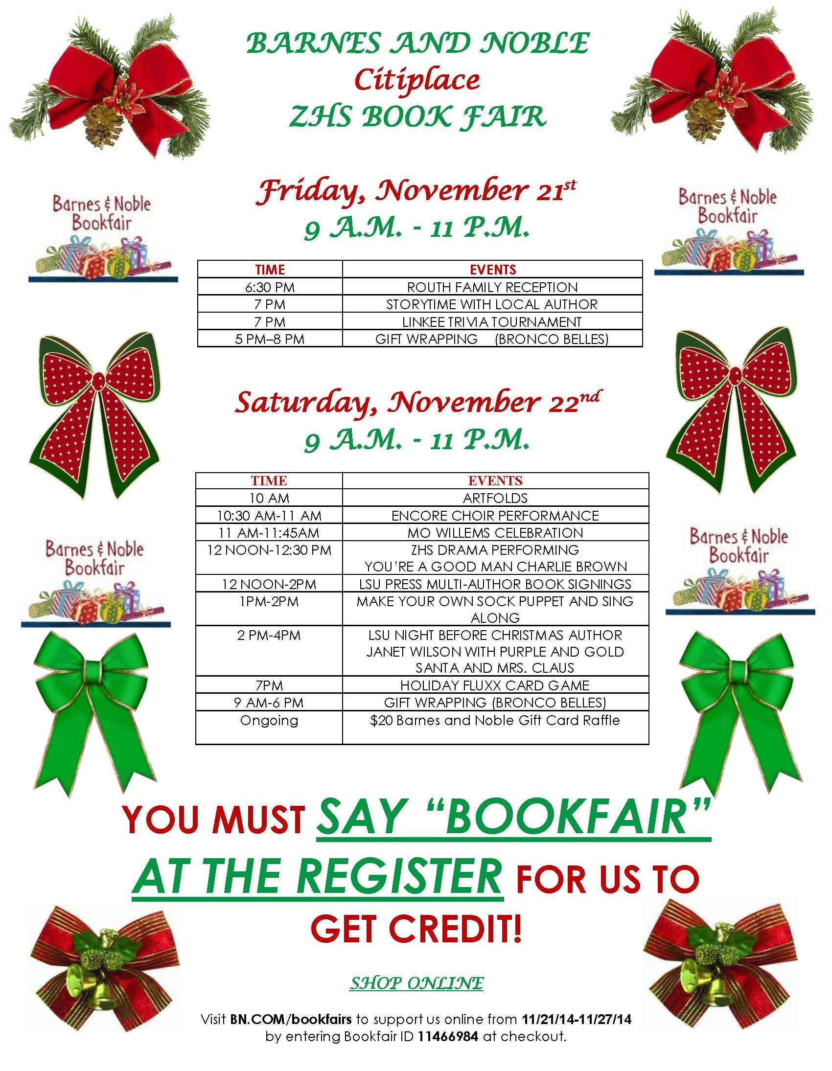 ZHS Barnes & Noble Book Fair